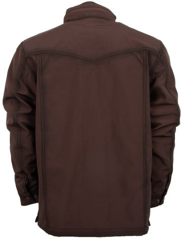 STS Ranchwear Brazos II Mens Polyester Jacket Water-Resistant Brown