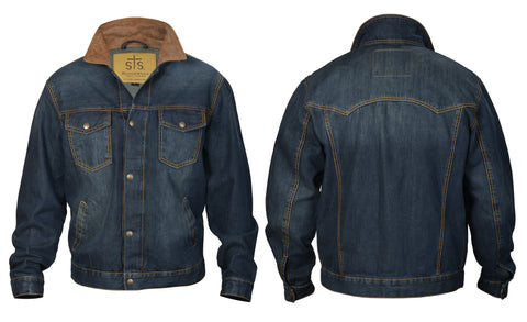 STS Ranchwear Mens Jumper Denim Jacket Stonewashed Indigo Western