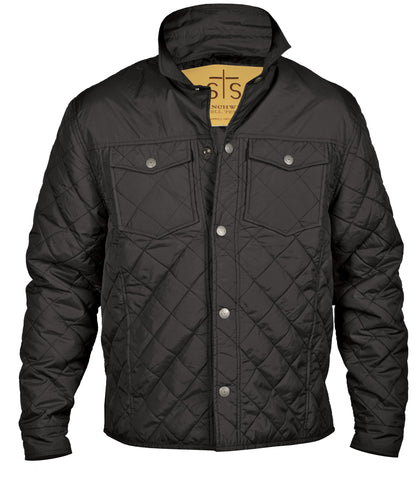 STS Ranchwear Mens Cassidy Poly Blend Field Jacket Black Quilted