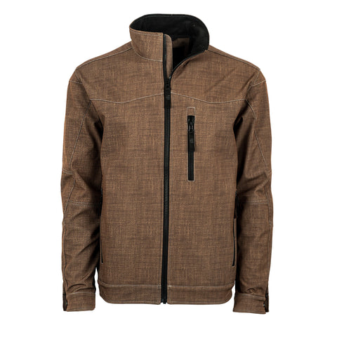STS Ranchwear Mens Performance Softshell Jacket Heather Brown