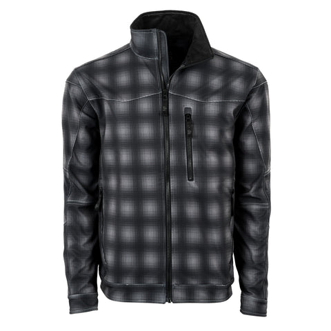 STS Ranchwear Mens Performance Softshell Jacket Black Plaid
