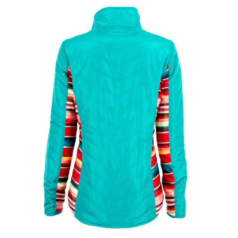 STS Ranchwear Ladies Gracie Polyester Puff Jacket Turquoise Serape