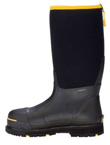 Dryshod Steel-Toe Hi Mens Foam Black/Yellow Work Boots