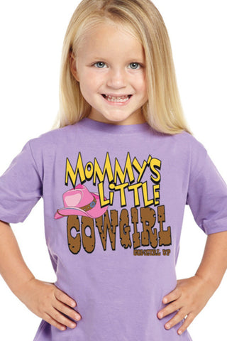 Cowgirl Up Toddler Girls Purple Cotton S/S T-Shirt Mommy's Little