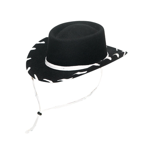 Twister Black Felt Youth Woody Hat