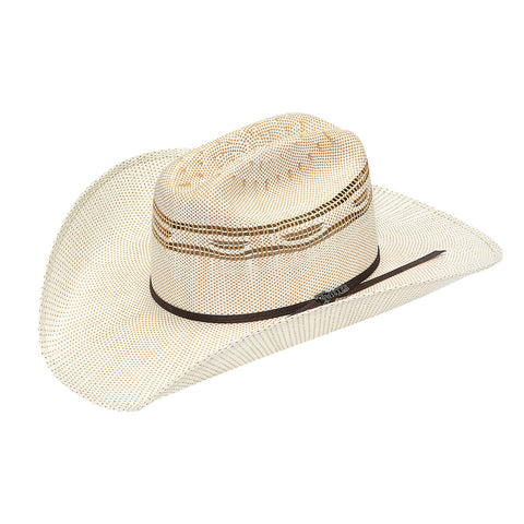 Twister Tan Straw 4.25in Crown Hat