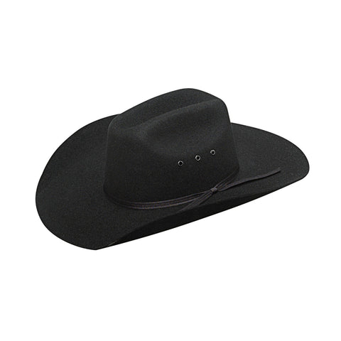 Twister Black Wool Youth Maverick Felt Hat