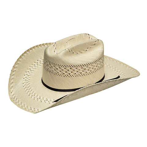 Twister Ivory/Tan Straw 20X Shantung 4.25in Crown Hat
