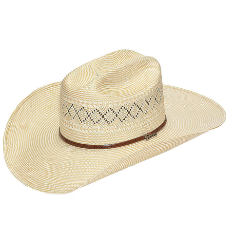 Twister Natural Straw 10X Shantung Western Hat