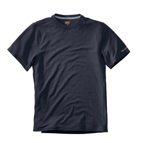 Timberland Pro Wicking Good T-Shirt Mens Dark Navy Polyester Knit S/S