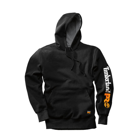 Timberland Pro Hood Honcho Hooded Sweatshirt Mens Jet Black Cotton Blend