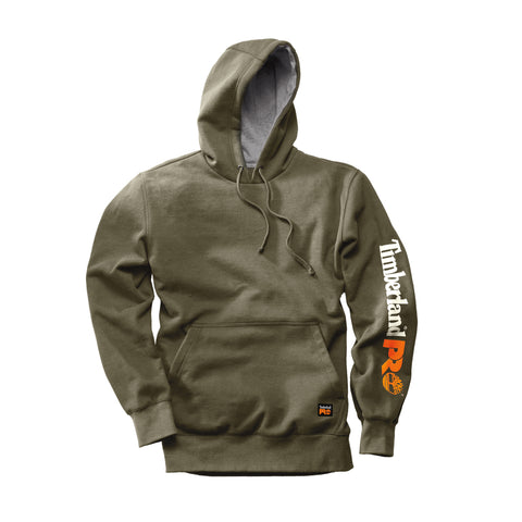 Timberland Pro Hood Honcho Hooded Sweatshirt Mens Burnt Olive Cotton Blend