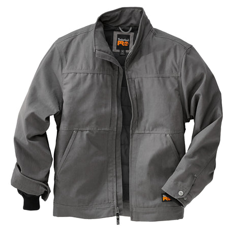 Timberland Pro Baluster Work Jacket Mens Pewter 100% Cotton Canvas