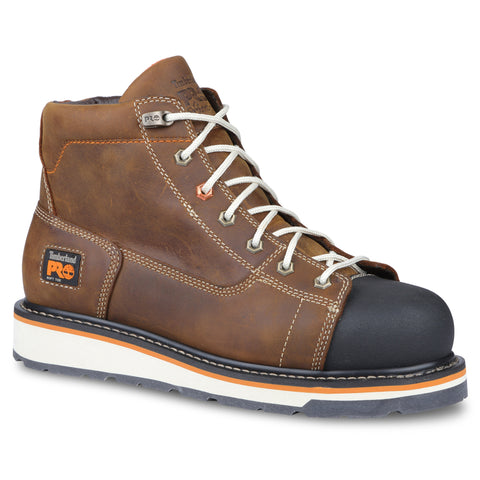 Timberland Pro Gridworks 6in Soft Toe Mens Brown Leather Work Boots