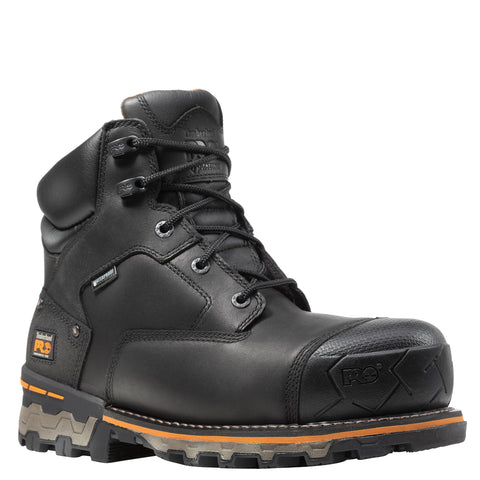 Timberland Pro Boondock 6in CT Mens Black Leather Work Boots