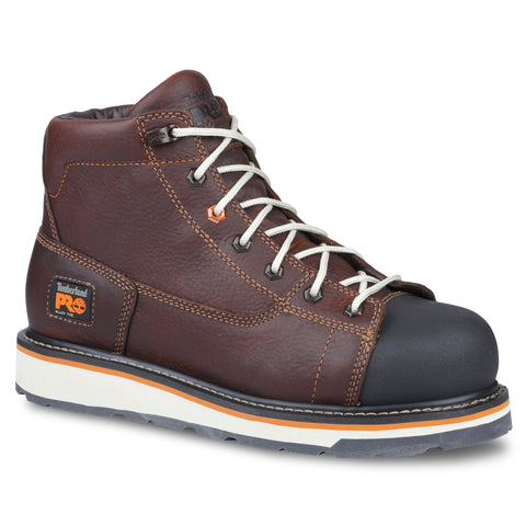 Timberland Pro Gridworks 6in AT Mens Red Brown Leather Work Boots