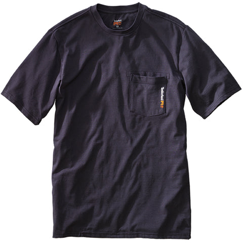 Timberland Pro Base Plate Mens Dark Navy Cotton Blend UPF 30 T-Shirt