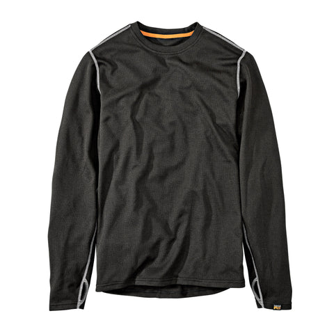 Timberland Pro Skim Coat Mens Jet Black Polyester Light Thermal T-Shirt