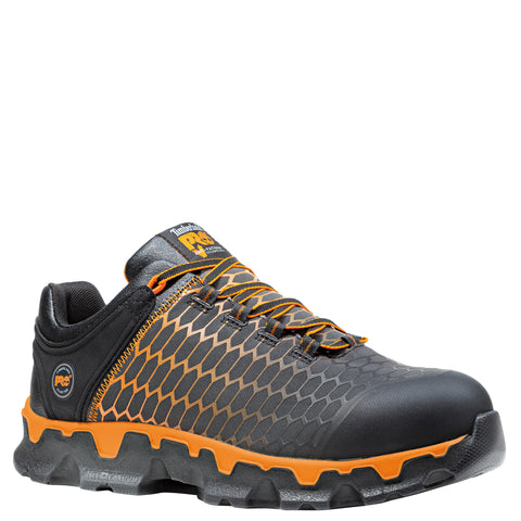Timberland Pro Powertrain AT EH Mens Black/Orange Ripstop Work Shoes