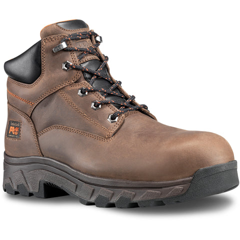 Timberland Pro Workstead 6in CT Mens Brown Leather Work Boots