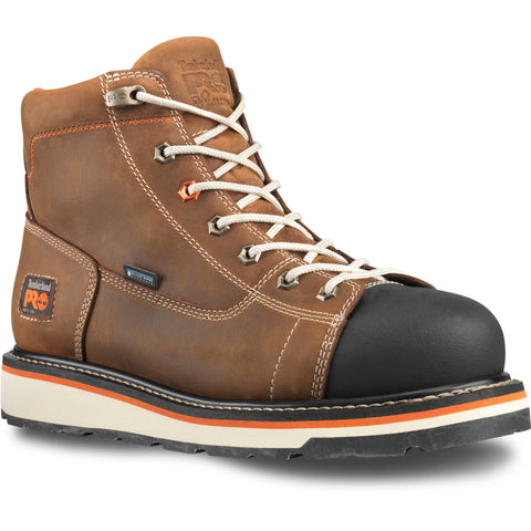 Timberland Pro Gridworks 6in Soft Toe Mens Brown WP Leather Work Boots