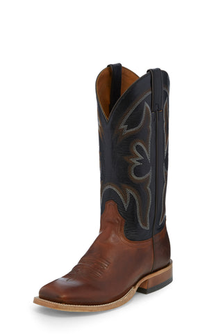 Tony Lama 11in 1911 Mens Black/Volcano Sealy Leather Cowboy Boots