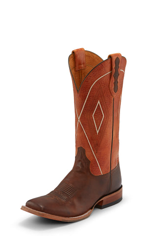 Tony Lama 13in 1911 Mens Tangerine Jasper Leather Cowboy Boots