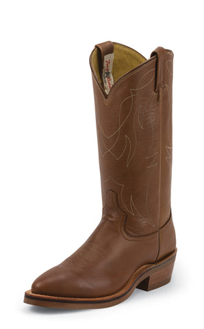 Tony Lama Mens Natural Retan Leather Stockman USA Western Boots