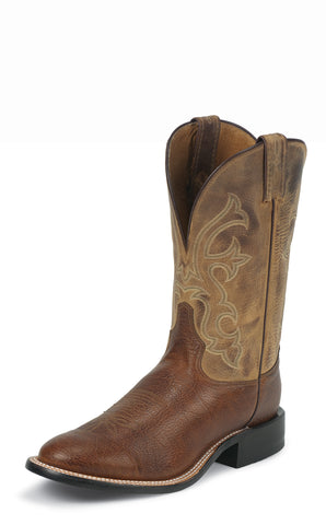 Tony Lama Mens Cognac Conquistador Shoulder Leather 11in Western Boots