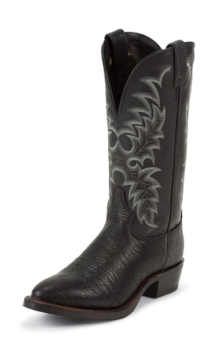 Tony Lama Mens Black Conquistador Shoulder Leather 13in Western Boots