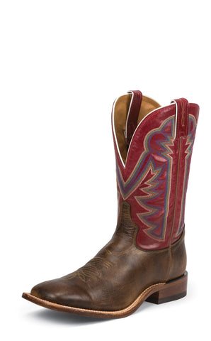 Tony Lama Mens Tan Crush Blaze Leather Americana 11in Western Boots