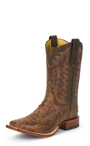 Tony Lama Mens Chocolate Vintage Ostrich San Sabra 11in Western Boots