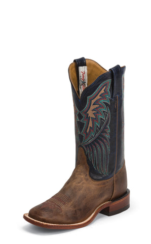 Tony Lama Womens Tan Saigets Worn Goat Leather Bandolero Western Boots