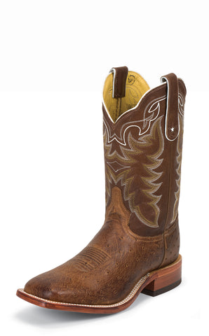 Tony Lama Mens Chocolate Vintage Smooth Ostrich San Saba Western Boots