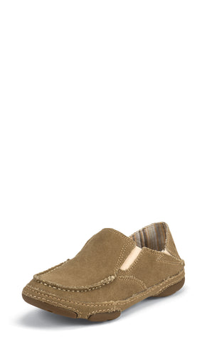 Tony Lama Womens Winter Wheat Canvas 3R Moccasins Loafer Shoes