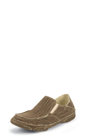 Tony Lama 3R Mens Straw Lindale Canvas Slip-On Shoes