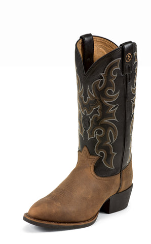 Tony Lama Mens Walnut Bridle Leather 3R Western Boots