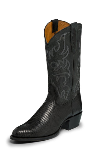 Tony Lama 1911 Mens Black Nacogdoches Lizard Cowboy Boots