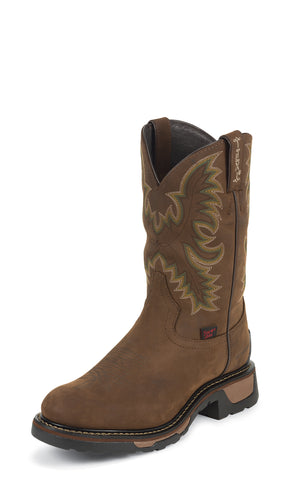 Tony Lama Mens Tan Cheyenne Waterproof Leather Stockman Work Boots