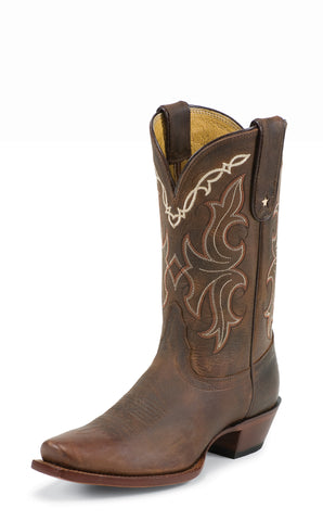 Tony Lama Womens Sorrel Tucson Leather 11in Western Boots