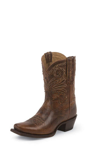 Tony Lama Womens Tan Baja Leather 9in Booties Western Boots