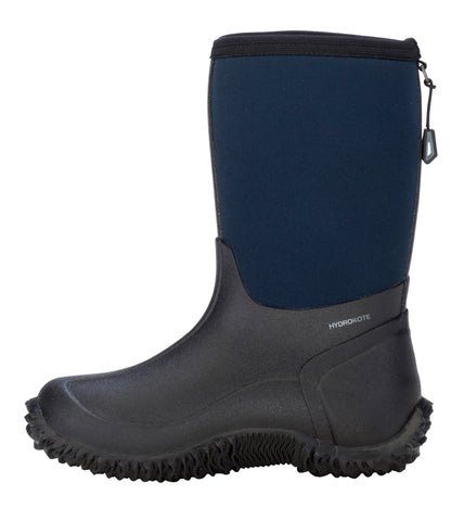 Dryshod Boys Tuffy Mid/Hi Kids Foam Black/Navy Farm Boots