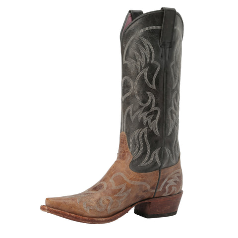 Miss Macie Ladies Black Leather Pure Prairie Fashion Boots