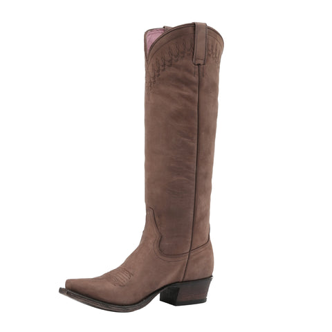 Miss Macie Ladies Brown Leather Telluride Fashion Boots Western