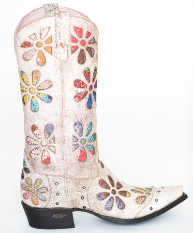 Miss Macie Womens Multi-Color Leather Whoop Si Daisy Fashion Boots