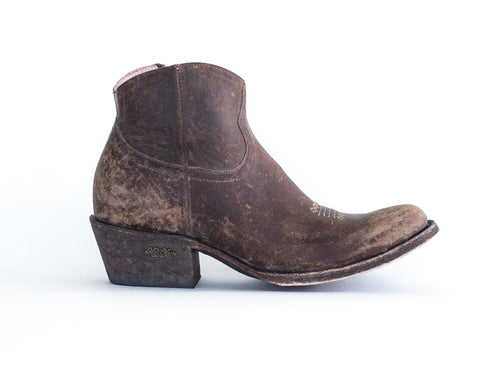 Miss Macie Womens Chocolate Leather On My Way Fashion Boots