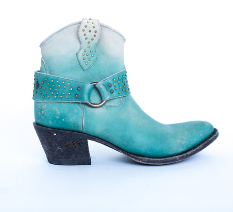 Miss Macie Womens Turquoise Leather Fine n Dandy Fashion Boots
