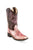 Old West Antique Pink/Crackle Children Girls Faux Leather Cowboy Boots