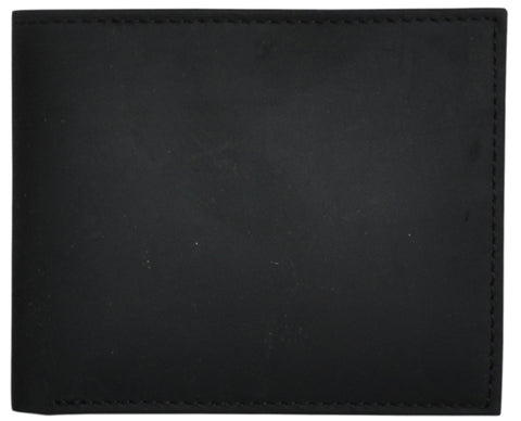 3D Black Leather Bifold Wallet Distressed