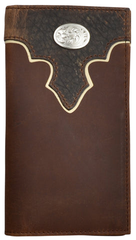 3D Brown Leather Rodeo Wallet Bullhide